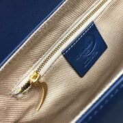 made in italy women leather bag swarovski blue