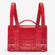 wow boutique leduran crocodile luxury backpack red