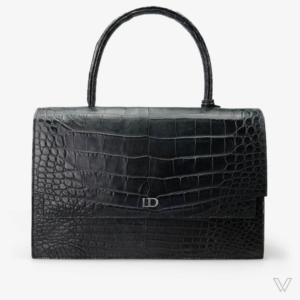 wow boutique leduran crocodile luxury handbag black