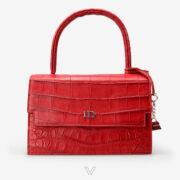 wow boutique leduran crocodile luxury handbag red