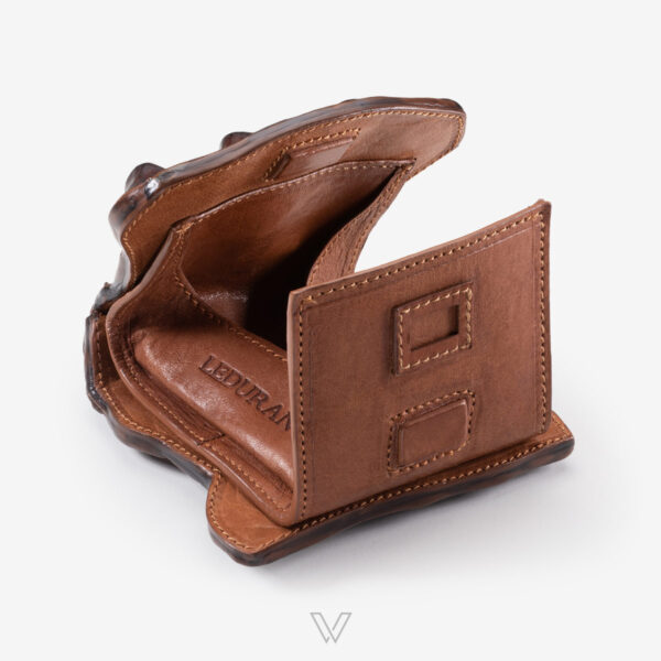 wow boutique leduran crocodile luxury money bag brown