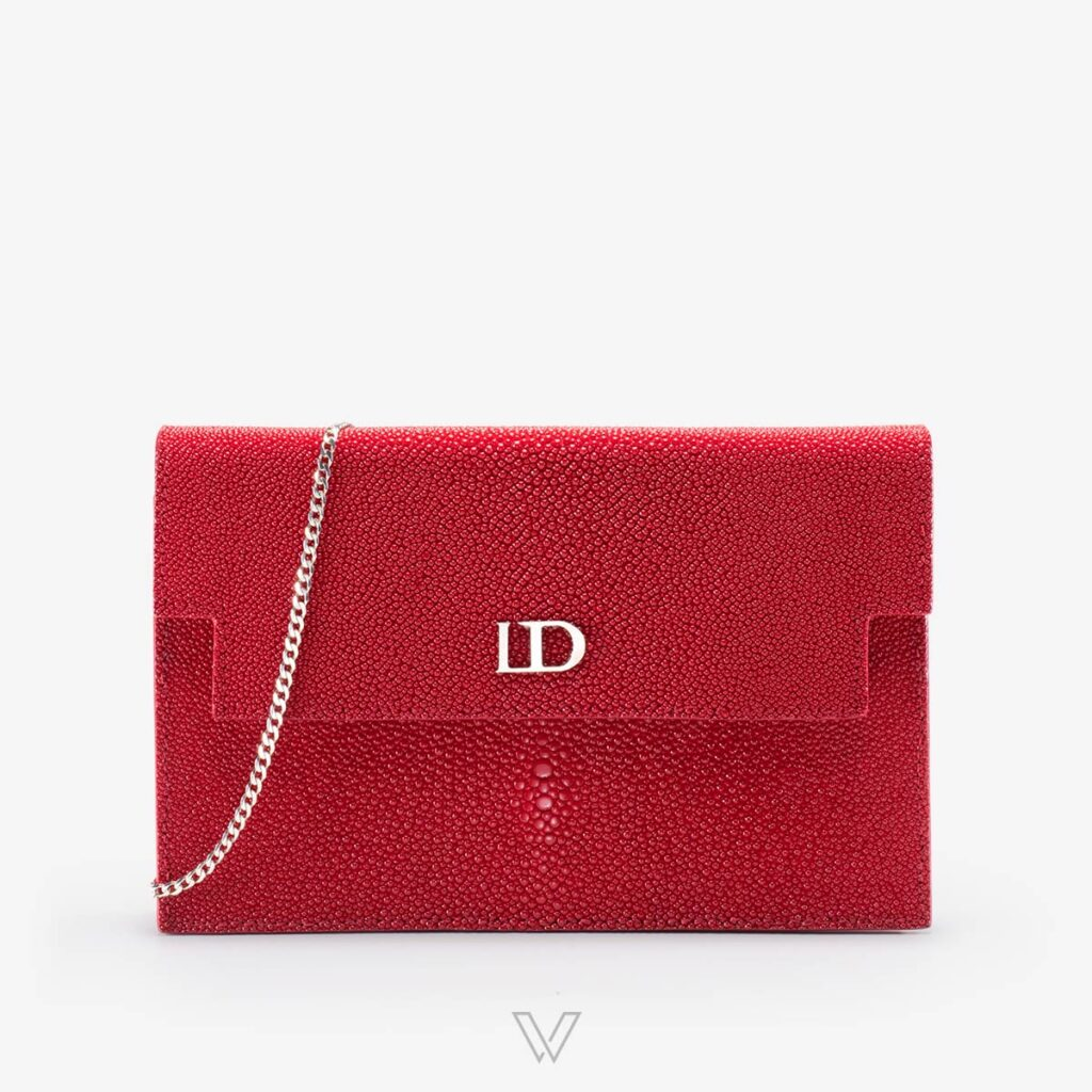 wow boutique leduran stingray luxury pochette red