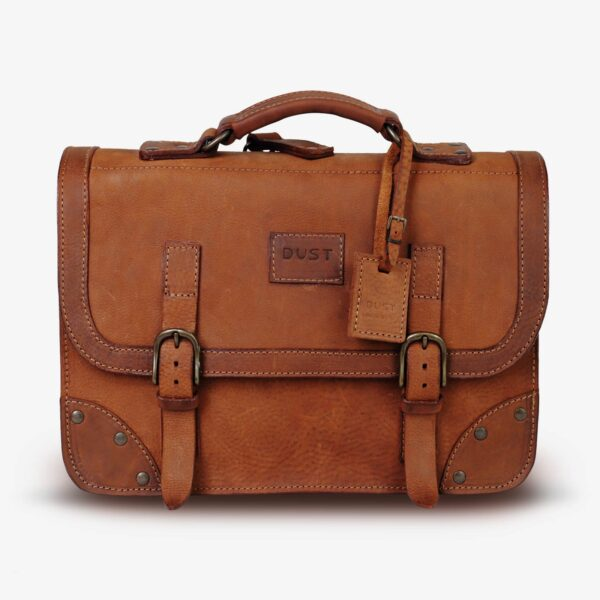 the dust company made in Italy briefcase bag leather handmade heritage